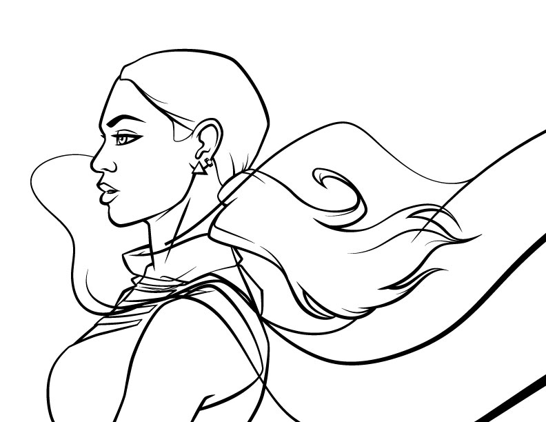 Lineart of the illustration